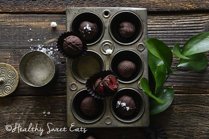 Chocolate Covered Cherries Showing Inside of Cherry