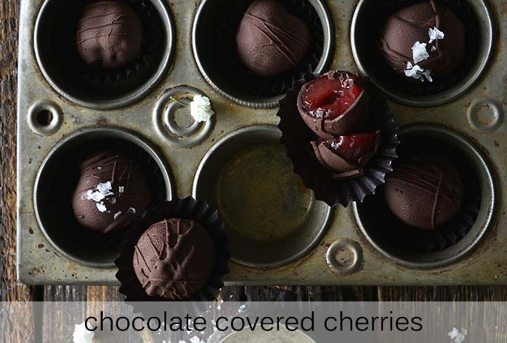 Healthy Chocolate Covered Cherries with Description