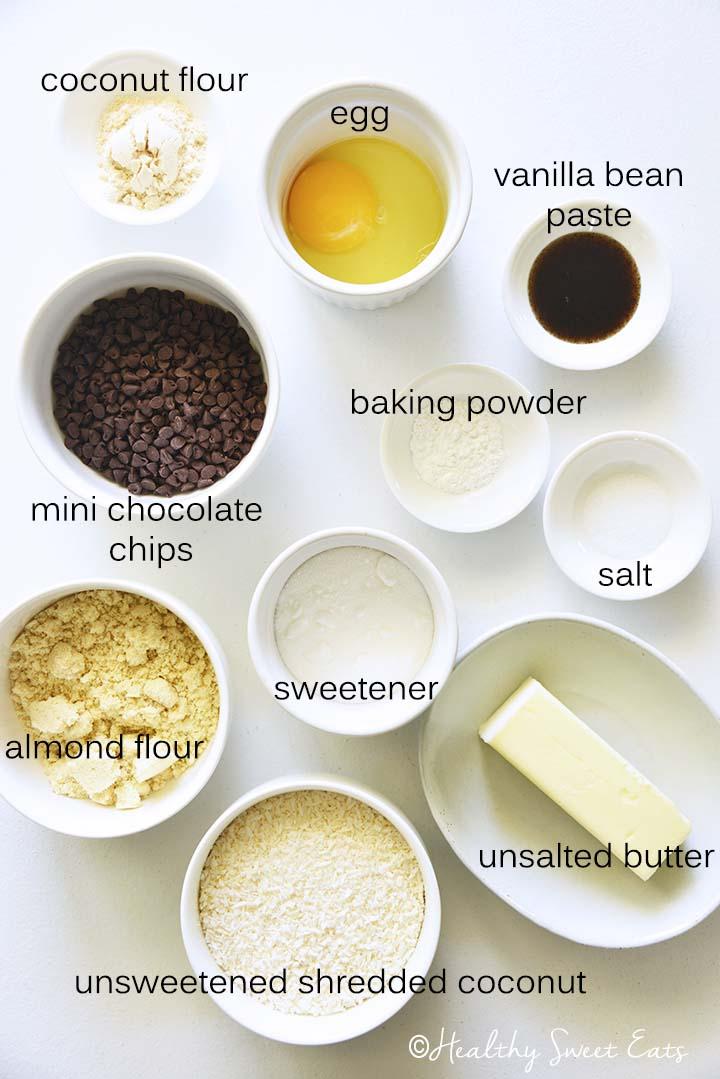 Coconut Keto Cookies Ingredients