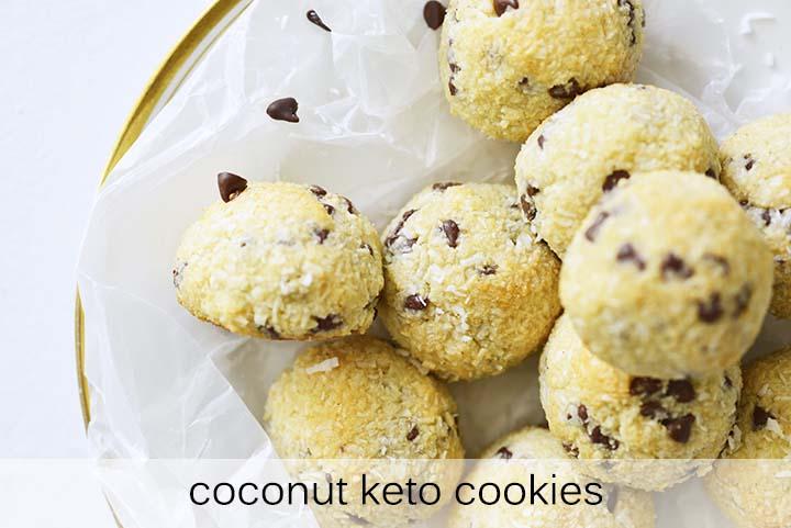 Coconut Keto Cookies with Description