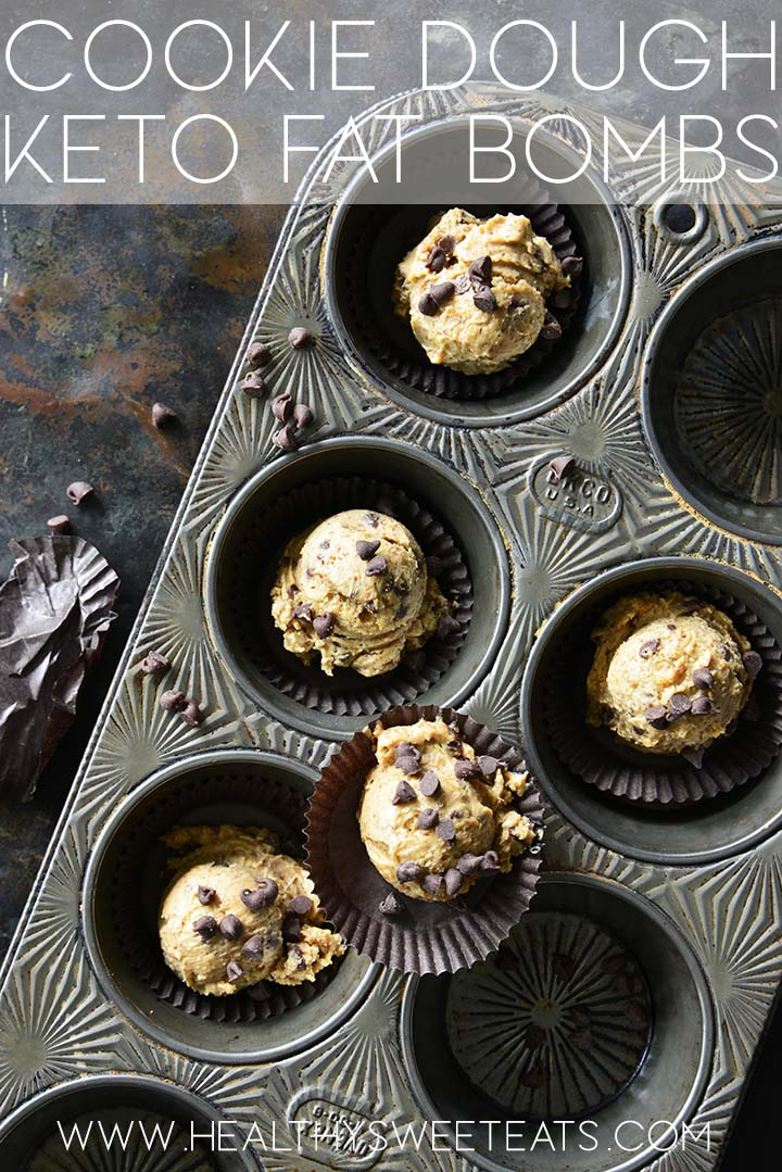 cookie dough keto fat bombs graphic