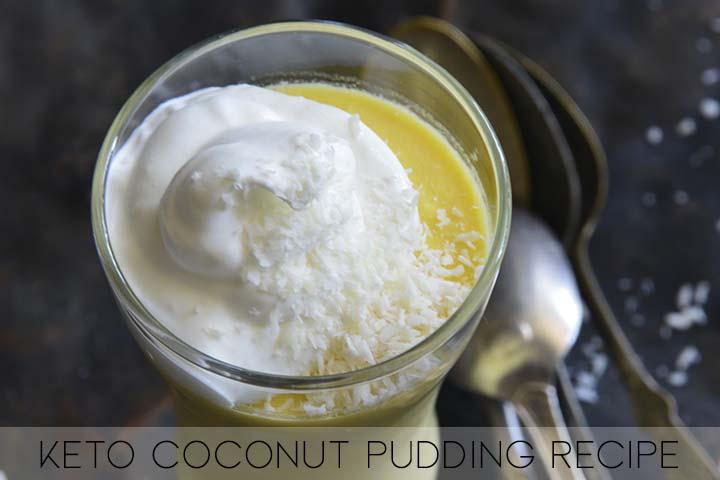 keto coconut pudding recipe with description