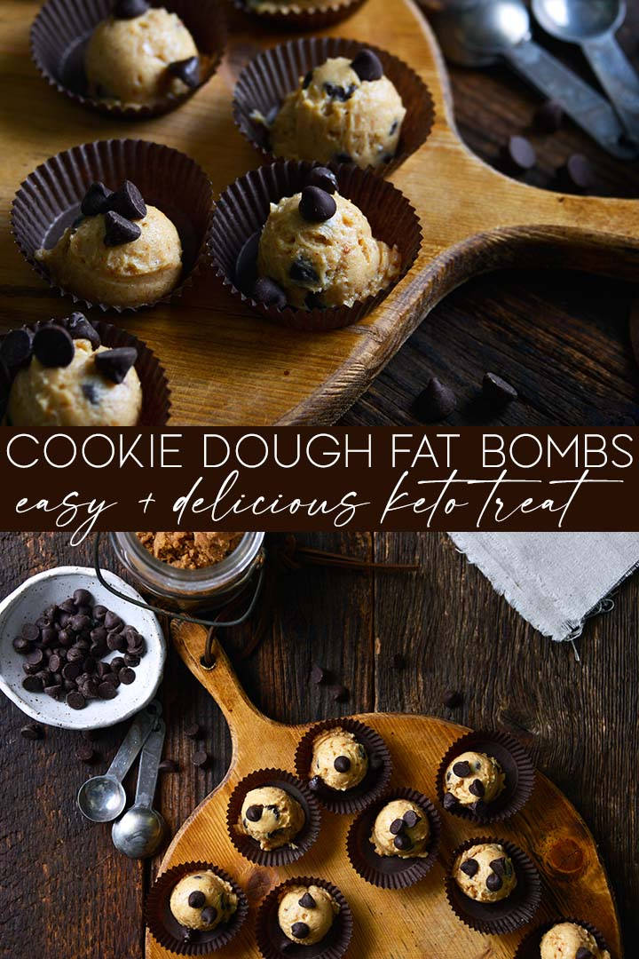 Chocolate Chip Cookie Dough #Keto Fat Bombs are creamy, rich, and flavorful with brown sugar and vanilla just like regular cookie dough, but without the sugar crash!