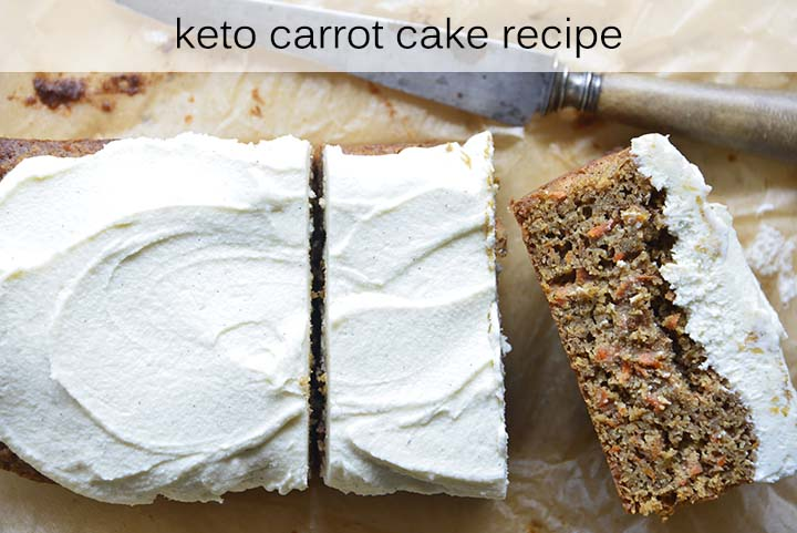 low carb carrot cake with description