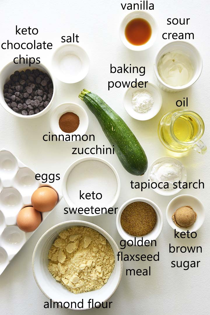 healthy zucchini bread ingredients