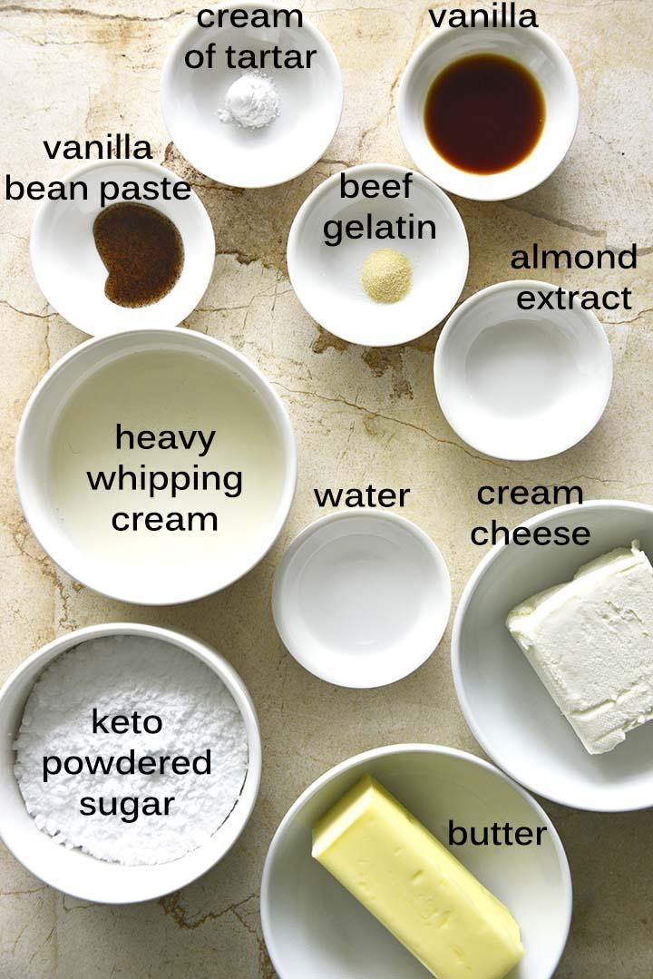 keto buttercream frosting ingredients